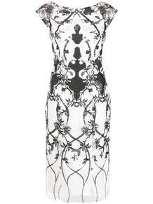платье без рукавов с пайетками MarchesaNotte 1631425548