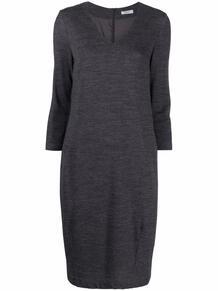 трикотажное платье с V-образным вырезом Peserico 169659065248