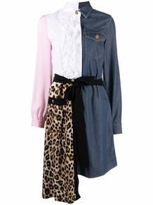 комбинированное платье-рубашка Love Moschino 169395205156