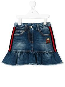 расклешенная джинсовая юбка с оборками Monnalisa 1445729751