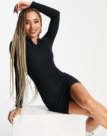 Черное облегающее платье мини из трикотажа -Черный цвет I Saw It First 103733437
