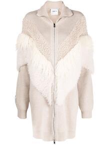 пальто с фактурными вставками Stella Mccartney 164905245254