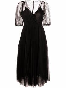 платье макси со вставкой из тюля RED VALENTINO 169943205250
