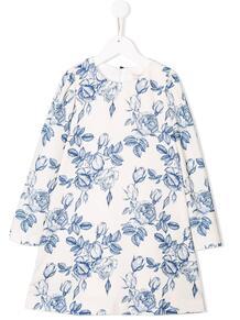платье с длинными рукавами и цветочным принтом Monnalisa 1411516952