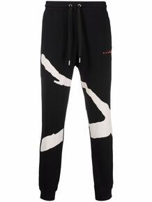 спортивные брюки с графичным принтом John Richmond 1700356083