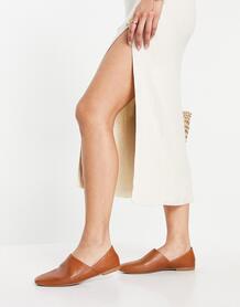 Светло-коричневые кожаные туфли-слипоны Ayden-Коричневый цвет Vagabond 11203405