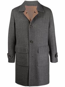 двустороннее однобортное пальто ELEVENTY 169998525350