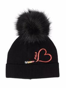 шапка с помпоном Monnalisa 1680693283