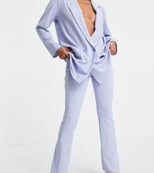 Расклешенные трикотажные брюки нежно-голубого цвета (от комплекта) ASOS DESIGN Petite-Голубой Asos Petite 102699114