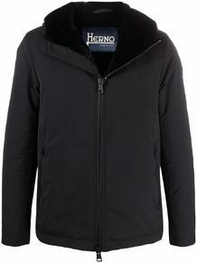 куртка с капюшоном и искусственным мехом HERNO 169923225256