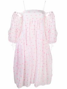 расклешенное платье с открытыми плечами Cecilie Bahnsen 1700560956