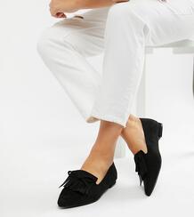 Широкие балетки для широкой стопы -Черный ASOS DESIGN 7298841