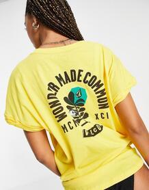 "Желтая футболка в стиле ""oversized"" Frontye-Желтый Volcom 11582206"