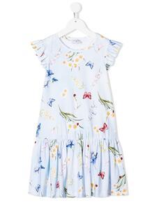 платье с цветочным принтом Monnalisa 1494470356