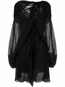 платье мини с драпировкой MAISON MARGIELA 170133015154