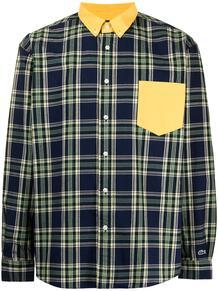 клетчатая рубашка на пуговицах Lacoste 1690283776