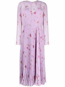 платье с цветочным принтом и плиссировкой RED VALENTINO 170207645248