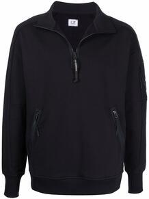 пуловер с воротником на молнии и линзой C.P. Company 1704472576