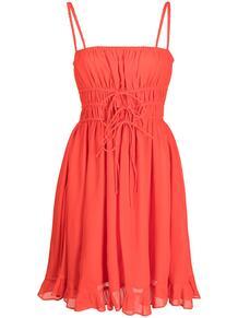 платье на бретелях со сборками Cynthia Rowley 1675368576