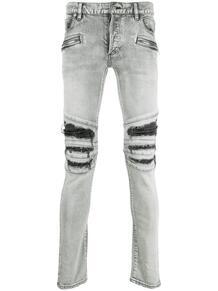 джинсы кроя слим с прорезями BALMAIN 163057265149