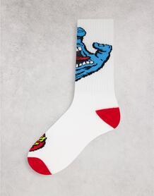 Белые носки с принтом «кричащая рука» -Белый Santa Cruz 11741994