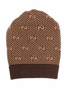 жаккардовая шапка с узором GG GUCCI KIDS 1697926277