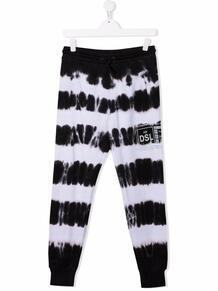 спортивные брюки с принтом тай-дай и логотипом Diesel Kids 17065067495232121114
