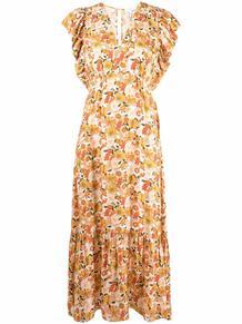 платье миди Rayana с цветочным принтом SANDRO Paris 168431945248