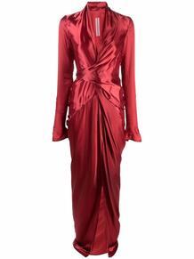 платье с драпировкой Rick Owens 170287005248