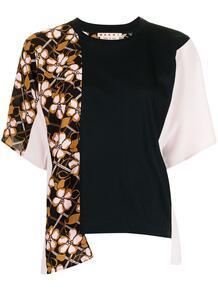 футболка с цветочным принтом Marni 170114535254