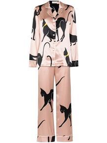 шелковая пижама Lila Sia с принтом Olivia Von Halle 1670547277