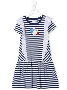 платье в полоску с короткими рукавами Monnalisa 150245884950