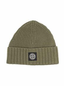 шапка бини с нашивкой-логотипом STONE ISLAND JUNIOR 1708021649