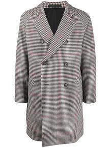двубортное пальто в ломаную клетку ELEVENTY 169461545256