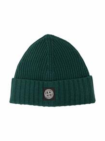 шапка бини в рубчик с нашивкой-логотипом STONE ISLAND JUNIOR 1708099651