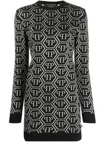 платье-свитер с логотипом PHILIPP PLEIN 1467465683