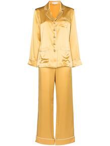 шелковая пижама на пуговицах Olivia Von Halle 1670613183
