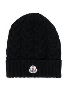 шапка бини с нашивкой-логотипом Moncler Enfant 1567918877