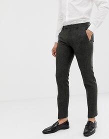 Темно-серые супероблегающие брюки Twisted Tailor - Серый 1319113