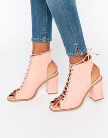 Сандалии на шнуровке ASOS TOZO - Розовый 912860