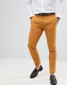 Супероблегающие брюки горчичного цвета Twisted Tailor - Медный 1319638