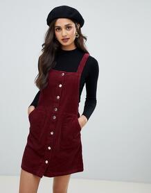 Бордовый вельветовый сарафан Miss Selfridge - Красный 1338379