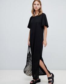 Платье макси с рукавами клеш Ichi - Черный 1227354