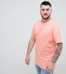 Розовая приталенная футболка Original Penguin Big & Tall - Розовый 1306593