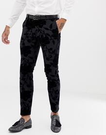 Супероблегающие брюки с набивкой флок Twisted Tailor - Серый 1320681