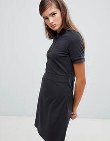 Платье из пике с виниловым воротником Fred Perry - Серый 1347035