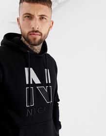 Худи черного цвета с логотипом на груди Nicce - Черный Nicce London 1311360