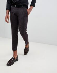 Бордовые укороченные брюки скинни Twisted Tailor - Красный 1319408