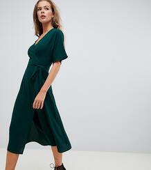 Зеленое платье миди с поясом на талии Missguided - Зеленый 1371094