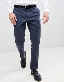 Темно-синие узкие брюки Twisted Tailor - Темно-синий 1349166